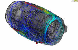 Full detail engine cowling cfd